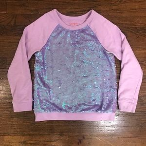 Cat & Jack Sequin Crewneck Sweatshirt Size 7/8
